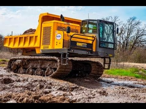 Mud Is No Match For Terramac RT14R Rotating Crawler Carrier - Tarrant Regional Water District