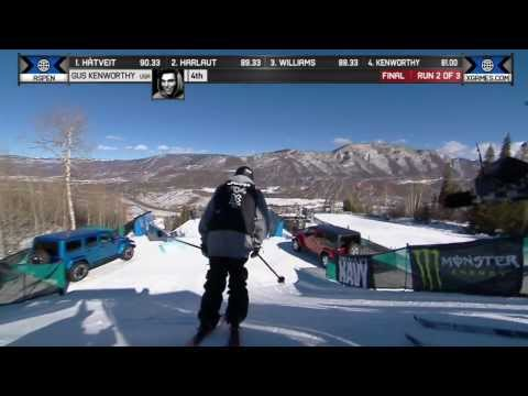 Gus Kenworthy - First Ever Triple in Ski Slopestyle