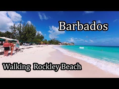 4K - Barbados 2017 -  Walking along  Rockley Beach