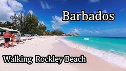 4K - Barbados 2017 -  Walking along  Rockley Beach