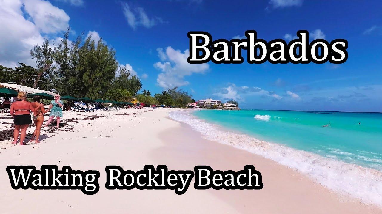 4k Barbados 2017 Walking Along Rockley Beach