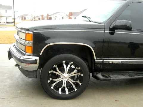 96' tahoe on rims for sale!! - YouTube