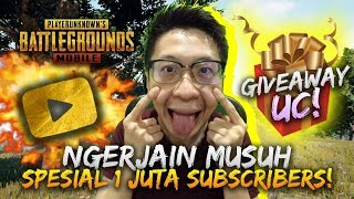 Gambar cover SPESIAL 1JT SUBSCRIBERS! NGERJAIN MUSUH PAKE CROSSBOW! ADA GIVEAWAY UC!- PUBG Mobile Indonesia