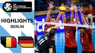 Belgium vs Germany Highlights CEV Men s Tokyo Volleyball Qualification 2020