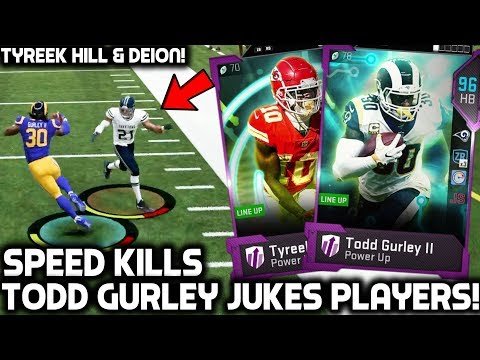 TODD GURLEY JUKES PLAYERS! TYREEK HILL & DEION SANDERS! Madden 19 Ultimate Team