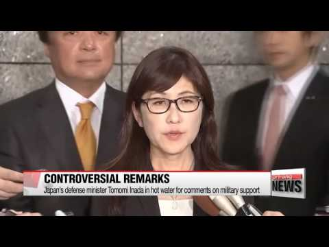 Japan's defense minister in hot water for comments on military support