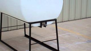 330 Gallon Chemical Injection Tank On Metal Stand For Oil And Gas Industry