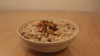 Recept: Gezond ontbijt met havermout en dadels (Recipe overnight oats)