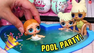 LOL Surprise Doll House Pool Party ! Toys and Dolls Fun Pretend Play for Kids | SWTAD