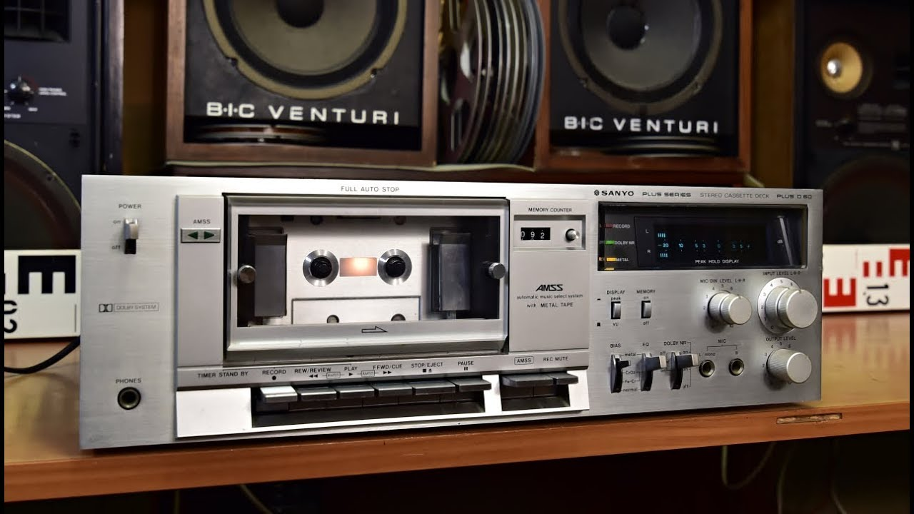 hight resolution of sanyo plus d60 stereo cassette deck vintage hifi tape deck