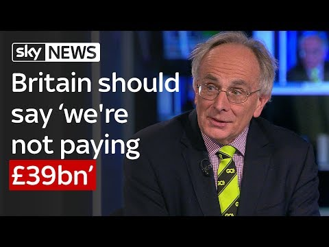 Peter Bone: Britain shouldn't pay £39bn Brexit bill