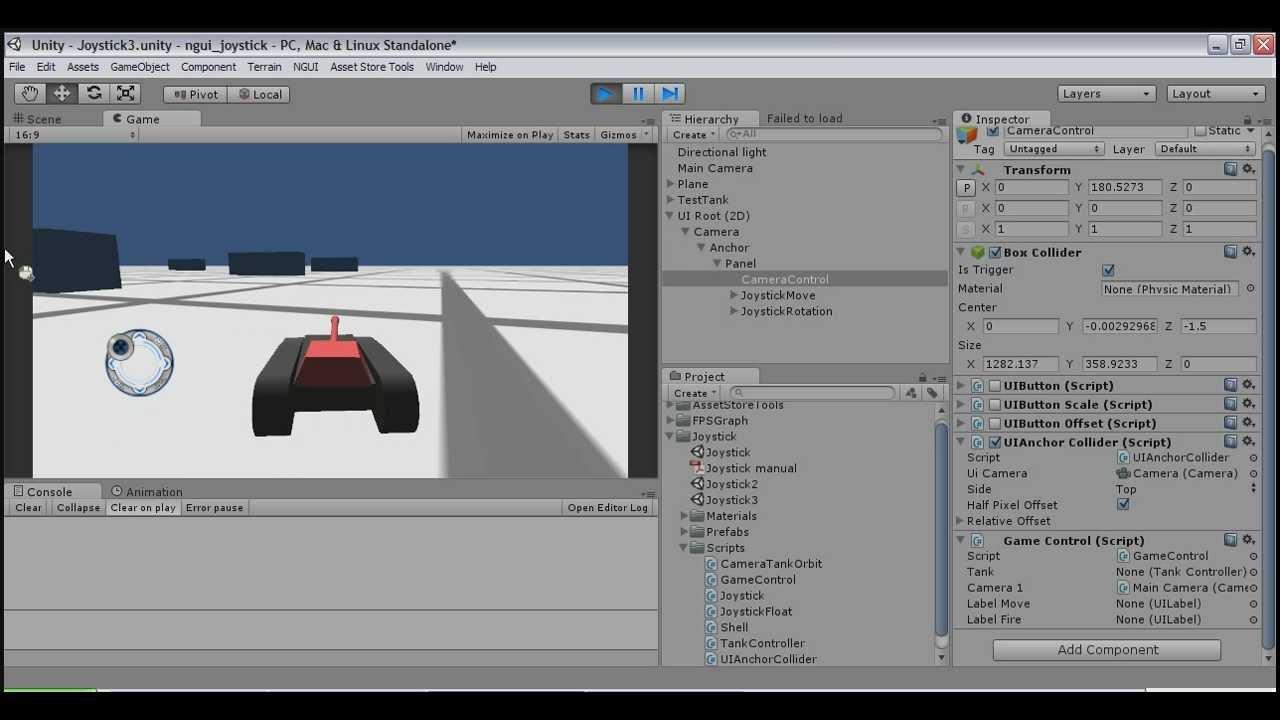 Joystick for mobile (NGUI) | Syber studio
