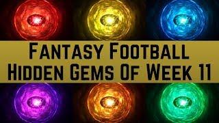 Fantasy Football - Hidden Gems of Week 11