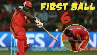 Top 10 Fearless First Ball Sixes in Cricket History ★ Must Watch ★
