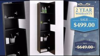 Bathroom Linen Cabinet with Extra Storage and Choice of Finish - uniquevanities.com