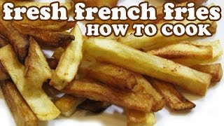 How To Make French Fries Homemade - Electric Oil Deep Fryer Fry Daddy -Fried Potato Spuds Cook Video