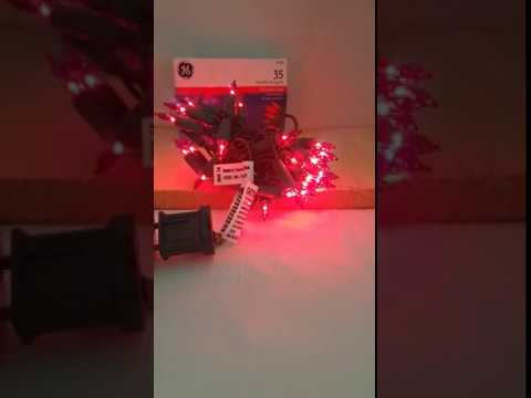 GE String A Long Indoor 35 Mini Lights in RED - YouTube