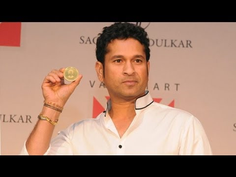 Sachin Tendulkar Launches Gold Coin With His Image Embossed !