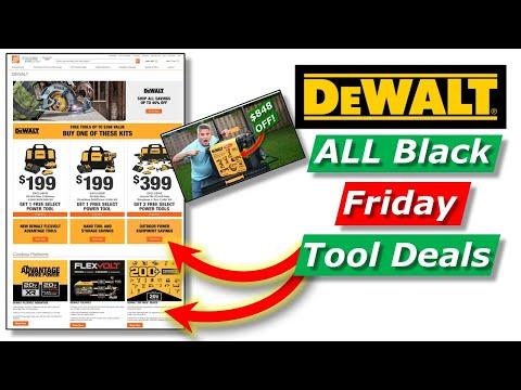 Links To Best Dewalt Black Friday Tool Deals Home Depot 2020 Youtube