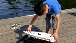 How to Launch a Remote Controlled toy Speed Boat, SAFELY.