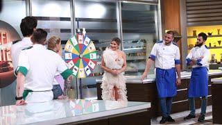 Proba individuală...la noroc! Concurenții sunt puși în fața ruletei cu ingrediente
