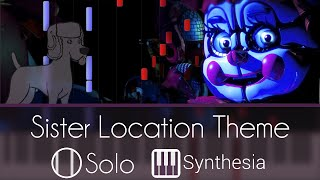 Sister Location Theme - Five Nights at Freddy's - |SOLO PIANO COVER| -- Synthesia HD