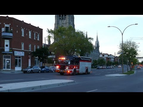 MONTREAL FIRE DEPARTMENT IN ACTION / LE SERVICE INCENDIE DE MONTRÉAL EN ACTION / SIM / MFD / 20X