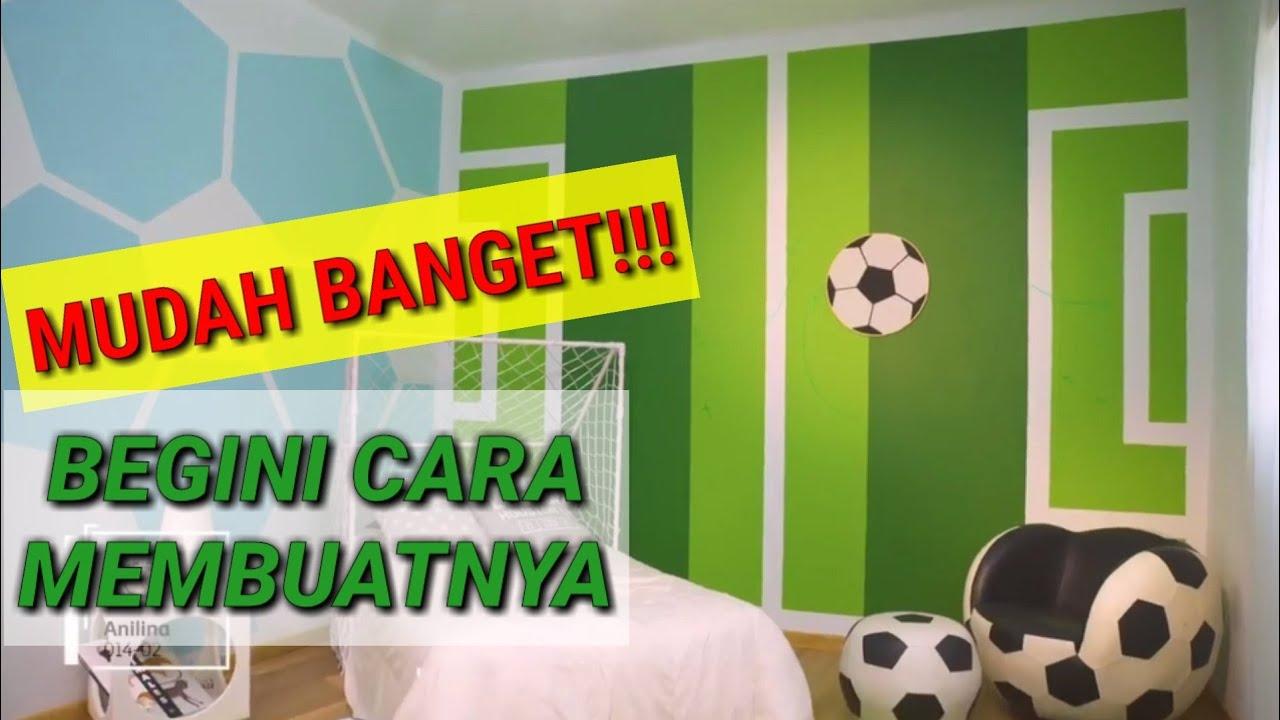 Cat Dinding Kamar Keren Motif Sepak Bola Cocok Untuk Kamar Anak Youtube