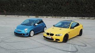 Drifting my BMW M3 around my Abarth - GOODBYE TIRES! (Sub ENG)