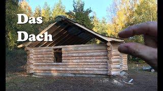 Ein Dach für das Blockhaus - skandinavische Bauweise