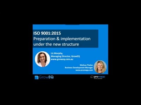 ISO 9001:2015 - Preparation & Implementation of the new standards.
