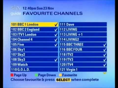 Sky UK EPG Background Music 2009-2011