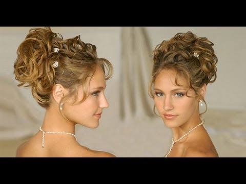 Long Hair Hairstyle Updos For Curly Hair Wedding Homecoming Prom 2013 Hair Tutorials Youtube