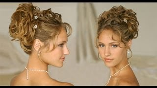 LONG HAIR Hairstyle:updos for curly hair wedding/homecoming/prom 2013 hair tutorials