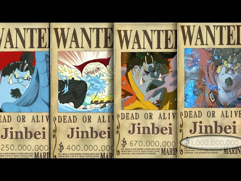 Jinbei's Evolution Bounty From The Start Until The End - One Piece chapter  921+ (Prediction)