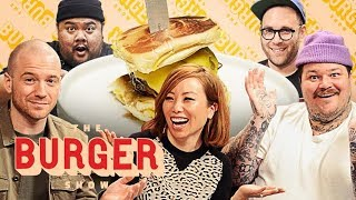 Sean Evans, Matty Matheson, and Miss Info Judge a Stunt Burger Showdown | The Burger Show