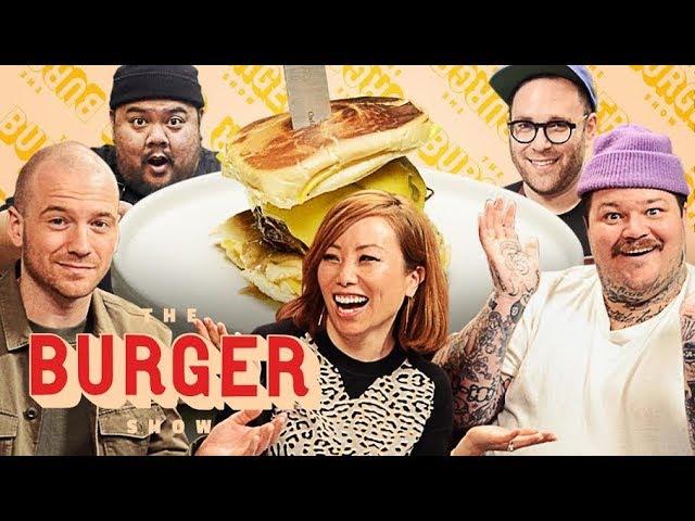 Sean Evans Matty Matheson And Miss Info Judge A Stunt Burger Showdown The Burger Show