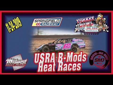USRA B-Mods Heat Races - Turkey Bowl Xlll Springfield Raceway 11-24-2019