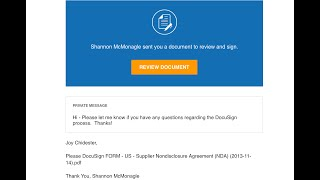 Beware of DocuSign Scams!!!  (Phishing)
