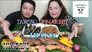 Fried Tilapia x Tahong x Pinakbet Mukbang | Happyboys Foodtube