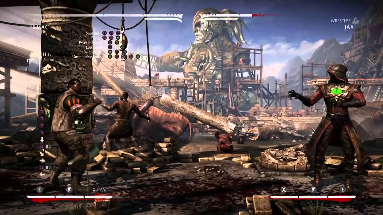 how to make mkx to show ps4 buttons
