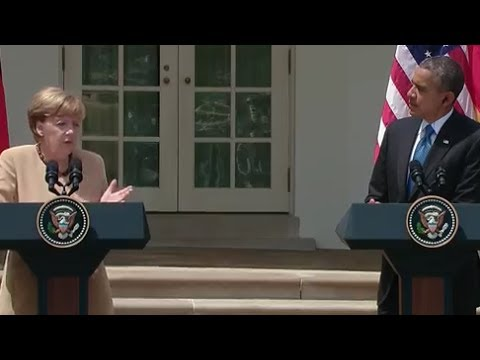 President Obama Holds a Press Conference with Chancellor Merkel of Germany