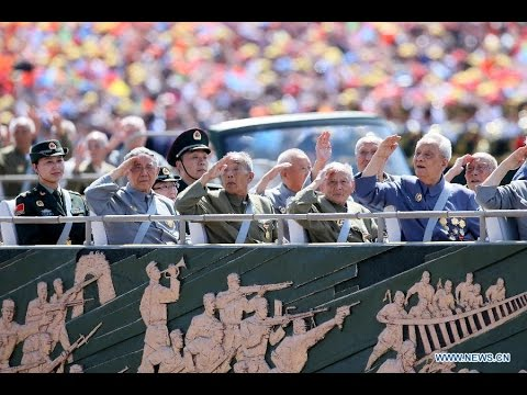 2. Veterans of counter-Japanese war lead China's V-Day parade