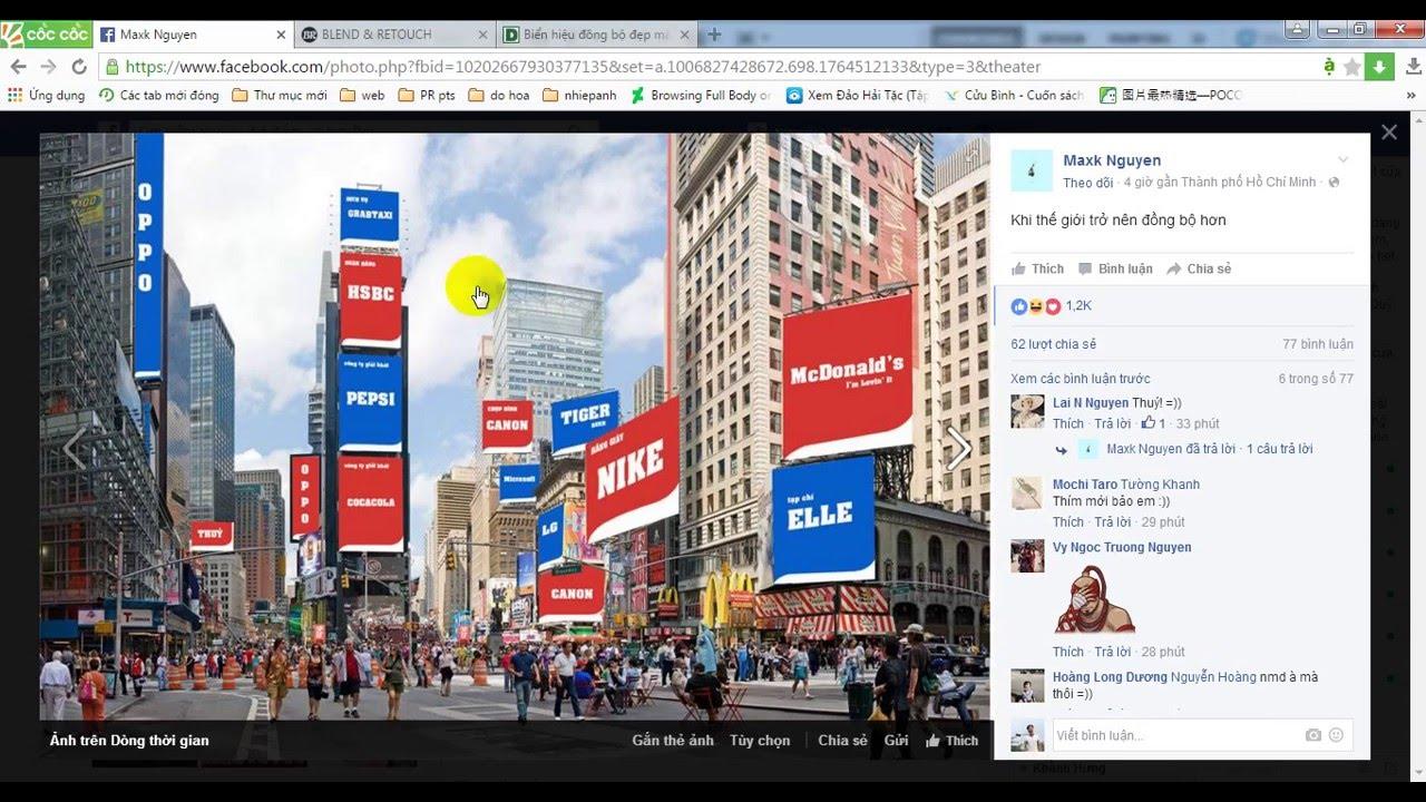 Cách thiết kế Biển hiệu đồng bộ đẹp mắt trên phố đi bộ bằng photoshop