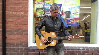 WISBECH BUSKER -PLAYING WISH YOU WERE HERE (PINK FLOYD) AGAIN