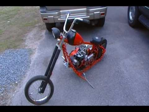 homemade mini chopper 206cc 1st ride chain frame - Mini Chopper Frame