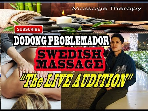 SWEDISH MASSAGE TUTORIAL FOR BEGINNERS (5 MANIPUTION AND STROKES)