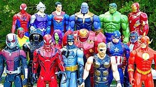 Thanos vs Avengers + Superman, Hulk, Iro