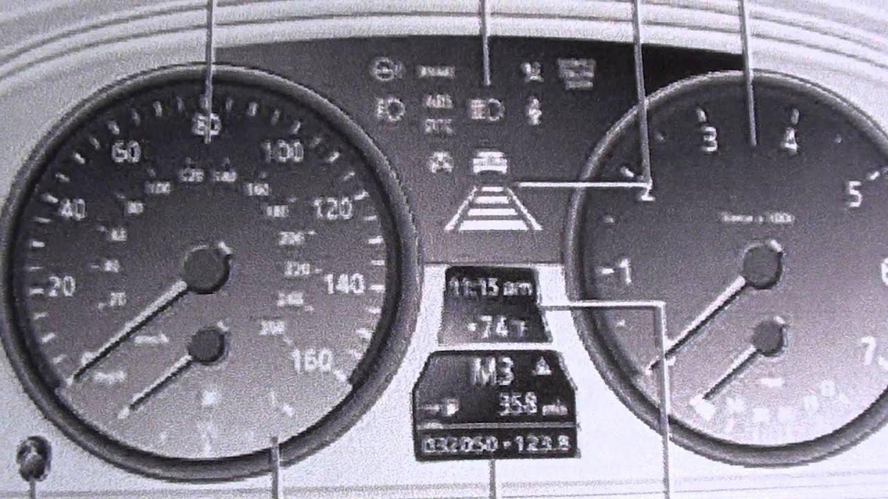 BMW E Series Dash Lights Symbols YouTube - Bmw car dashboard signs