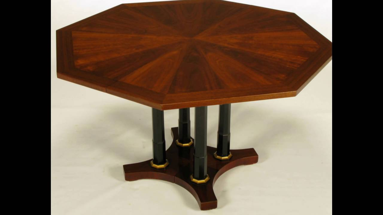 octagon dining room table plans - YouTube